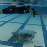 Swimoid: a swim support system using an underwater buddy robot