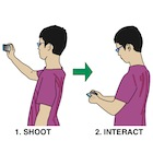 ShootAR : A Mobile Augmented Reality Interaction for Reconciling Comfortable Operation with Spatial Continuity